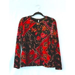Tops - Velvet ornate long sleeved top